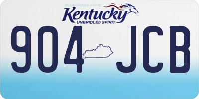 KY license plate 904JCB