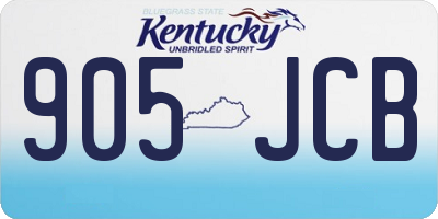 KY license plate 905JCB