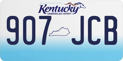 KY license plate 907JCB