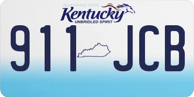KY license plate 911JCB