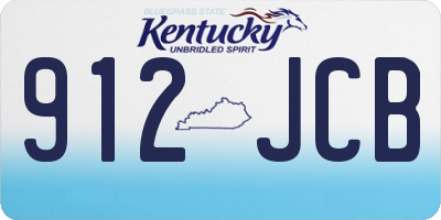 KY license plate 912JCB