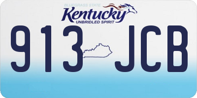 KY license plate 913JCB