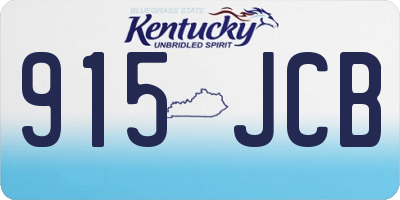 KY license plate 915JCB