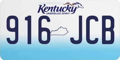 KY license plate 916JCB