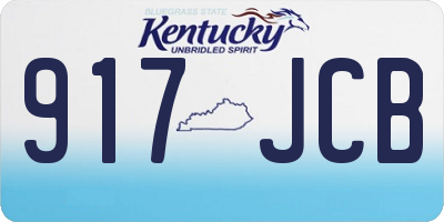 KY license plate 917JCB