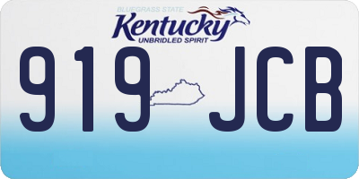 KY license plate 919JCB