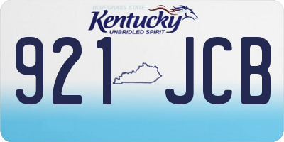 KY license plate 921JCB