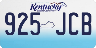 KY license plate 925JCB