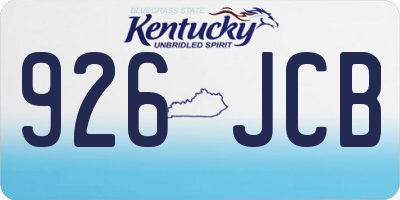 KY license plate 926JCB