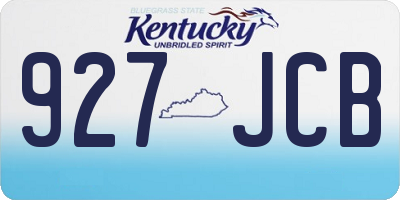 KY license plate 927JCB