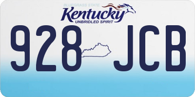 KY license plate 928JCB