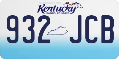 KY license plate 932JCB