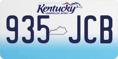 KY license plate 935JCB