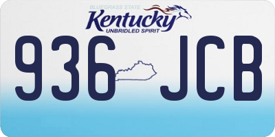 KY license plate 936JCB