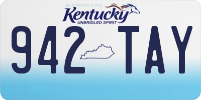 KY license plate 942TAY
