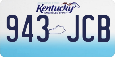 KY license plate 943JCB