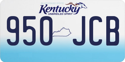 KY license plate 950JCB