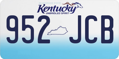 KY license plate 952JCB