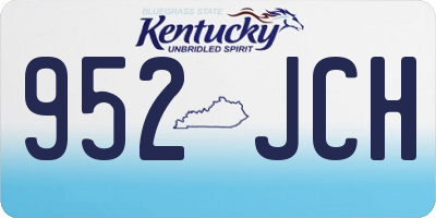 KY license plate 952JCH