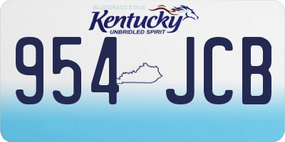 KY license plate 954JCB
