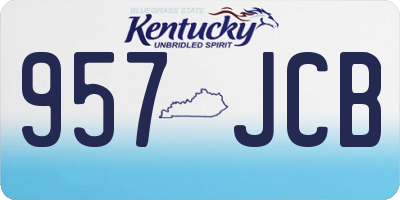 KY license plate 957JCB