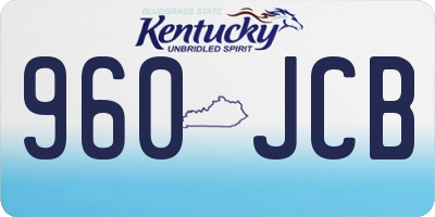 KY license plate 960JCB