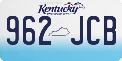 KY license plate 962JCB