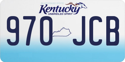 KY license plate 970JCB