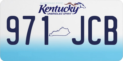 KY license plate 971JCB