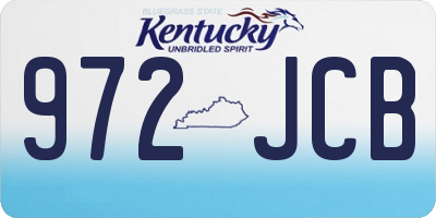 KY license plate 972JCB