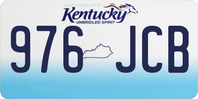 KY license plate 976JCB