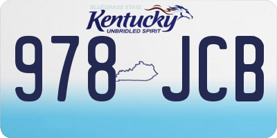 KY license plate 978JCB