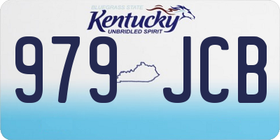 KY license plate 979JCB