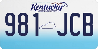 KY license plate 981JCB