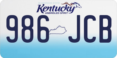 KY license plate 986JCB