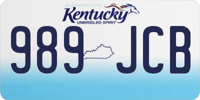 KY license plate 989JCB