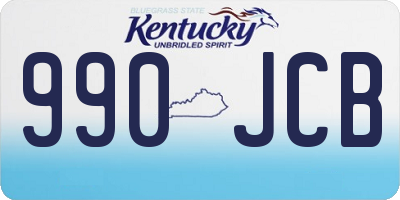 KY license plate 990JCB