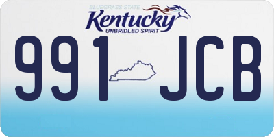 KY license plate 991JCB