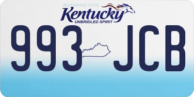 KY license plate 993JCB