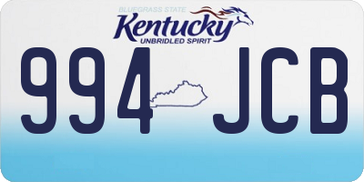 KY license plate 994JCB