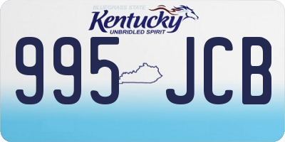 KY license plate 995JCB
