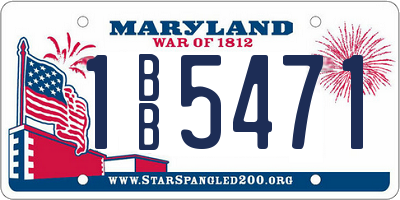 MD license plate 1BB5471