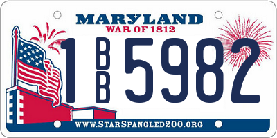 MD license plate 1BB5982