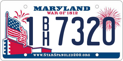 MD license plate 1BH7320