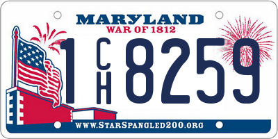 MD license plate 1CH8259