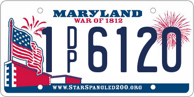 MD license plate 1DP6120