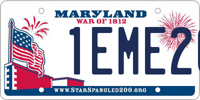 MD license plate 1EME20