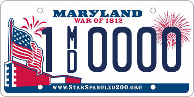 MD license plate 1MD0000