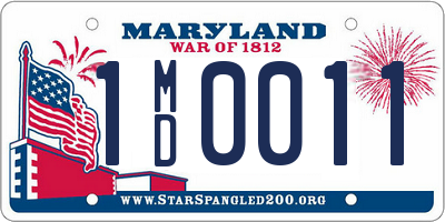 MD license plate 1MD0011