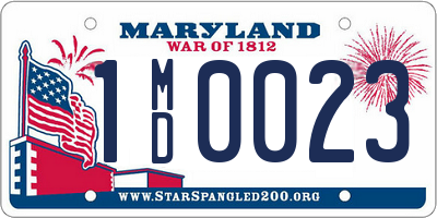 MD license plate 1MD0023